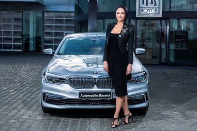Andreea Marin si BMW Seria 5. Ambasador Automobile Bavaria Group. Photo by Florin Vitzman